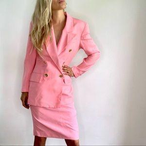 Christian Dior Pink Suit Blazer & Pencil Suit 4